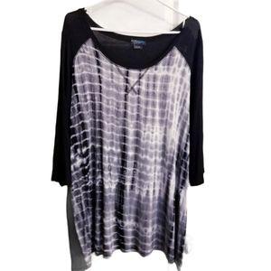 MBLM by Tess Holliday Tie Dye Raglan Shirt